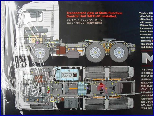 MAN TGX 26.540 napęd 6x4 firmy Tamiya 56325