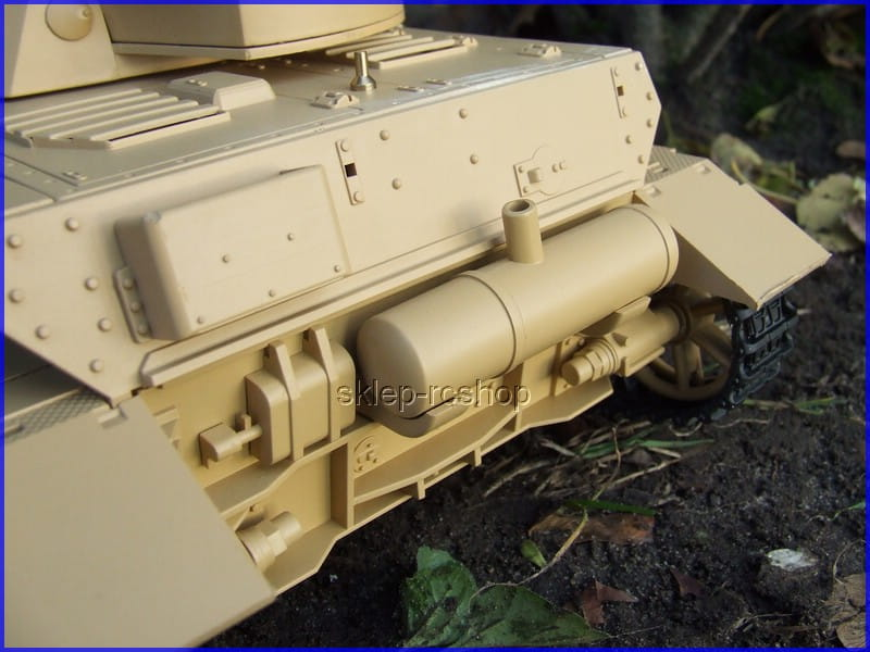 Panzer IV z wytwornicą dymu, proporcjonalnym sterowaniem działkiem ASG