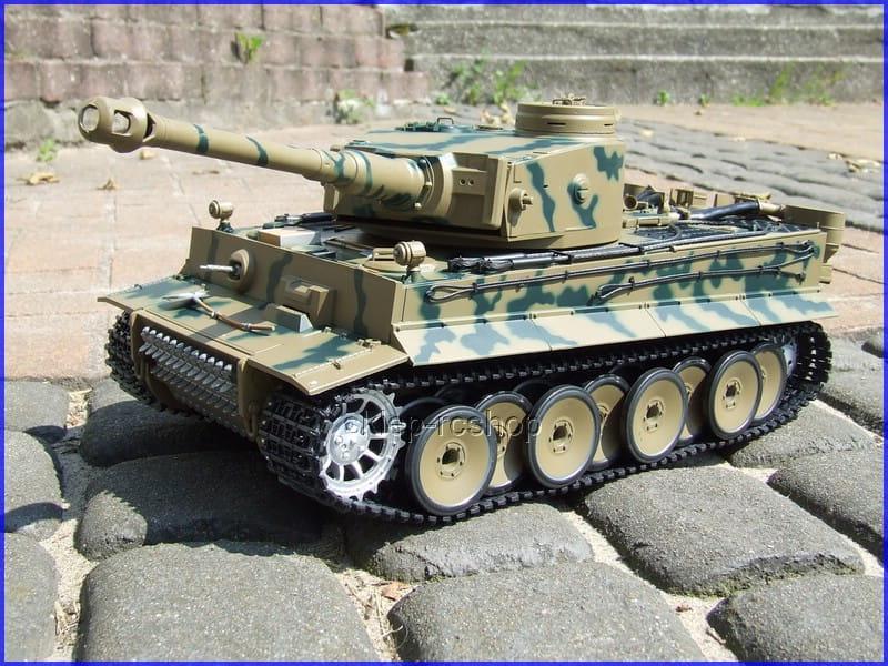 Czołg German Tiger proporcjonalne sterowanie, wytwornica dymu, skala 1/16